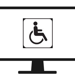 handicap sign on a computer screen