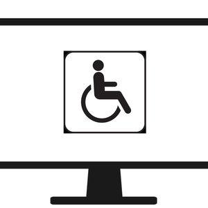 handicap sign on a computer screen