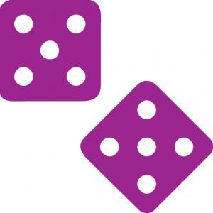 purple dice