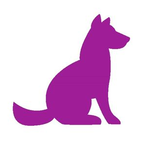 purple dog icon
