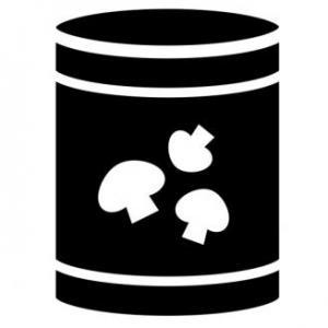 can of mushrooms