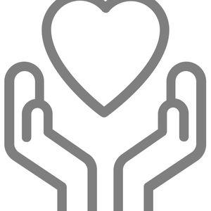 hands surround a heart