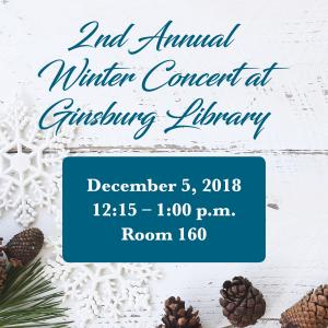 2nd Annual Winter Concert at Ginsburg library