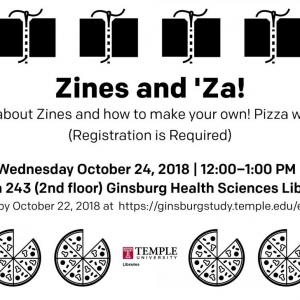 slideshow promoting zine and pizza workshop
