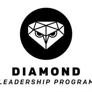 The Diamond Leadership Program logo in black and white