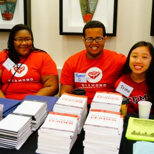 Students volunteering at the Fall Student Leadership Conference