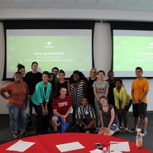 A group of DLP students at last years DLP kickoff event