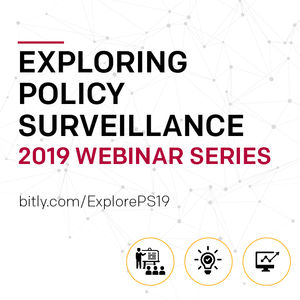 Exploring Policy Surveillance, 2019 Webinar Series