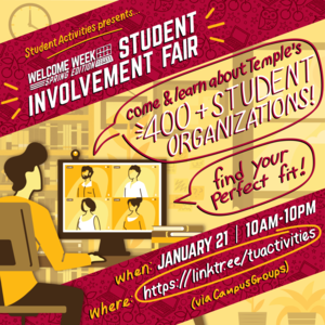 Student Involvement Fair graphic