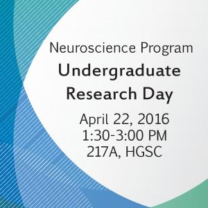 Undergraduate Research Day in Neuroscience | Calendar of Events