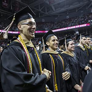 students at 2015 Commencement