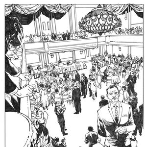 drawing of Cecil B. Moore for BLAM! Graphic Novel