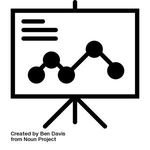 Image of a cartoon presentation with graph