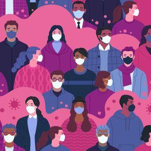 Image of people wearing masks