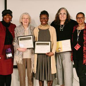 From left: Dr. Kimmika Williams-Witherspoon, Dr. Jacqueline Tanaka, Dr. Sonja Peterson-Lewis, Dr. Elizabeth Sweet, and Dr. Karen Turner