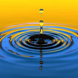 Droplet of water into pool