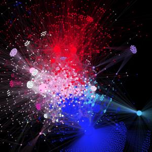 Gephi social diagram