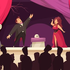 Cartoon drawing of opera