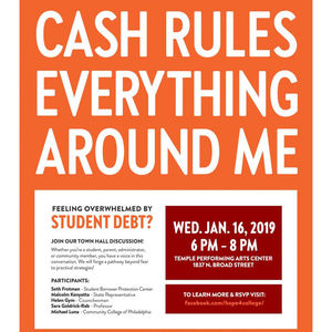 Philly Town Hall on Student Debt Flyer