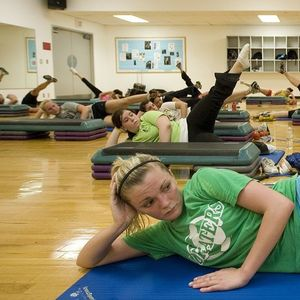 Patrons participating in a Pilates Session