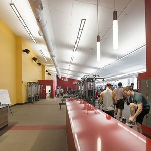 A photo of the entrance of the Aramark STAR Complex, Weight Room