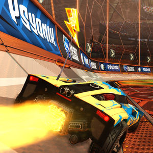 An image of Rocket League Game-play.