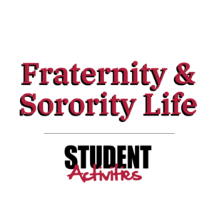 Fraternity and Sorority Life Logo with Student Activities Logo