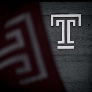 Temple flag and Temple T on building