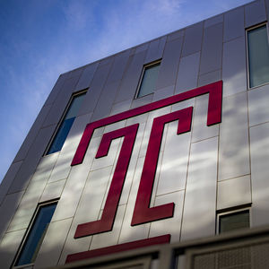 Temple T on building