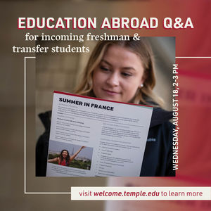 event promo, student reading handout