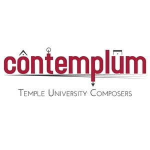 contemplum Temple University Composers logo, red text on white background