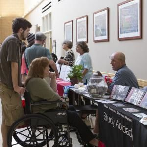 Visitors learn about Temple University Ambler at Fall Open House.